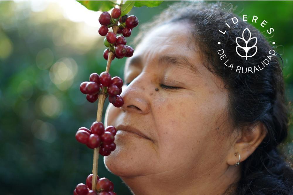 Elvia Monzón, productora de Café en San Antonio Huista, Guatemala.